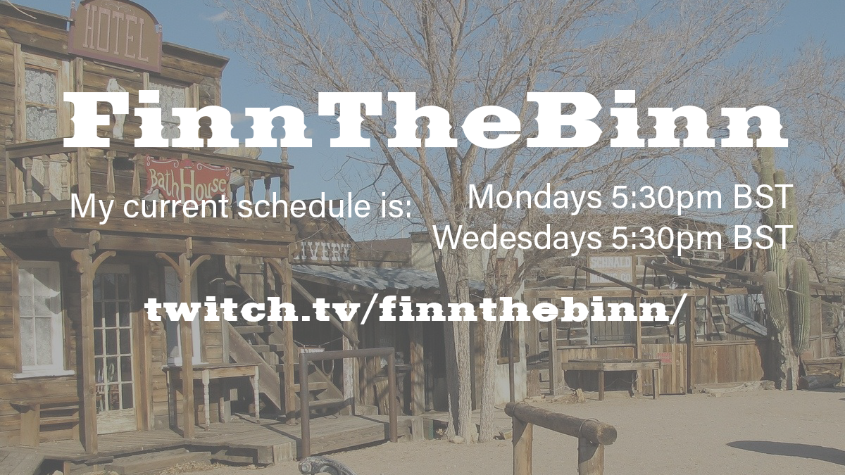 FinntheBinn twitch channel - twitter advert